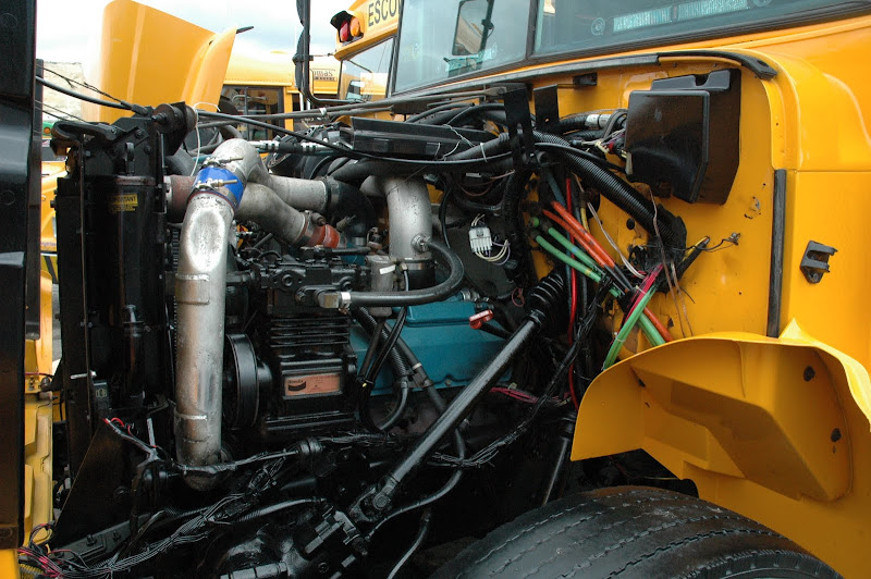 more school bus pics from 2009 diesel nationals school bus fleet rh schoolbusfleet com School Bus Engine Pre-Trip international school bus engine diagram