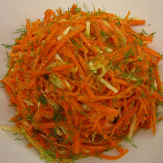 Carrot-Fennel Salad with Ginger-Horseradish Dressing.