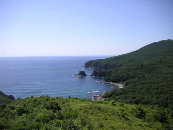 Extrémité sud de la péninsule de Gamova : vue vers le sud, 29 juillet 2010. Photo : J. MIchel