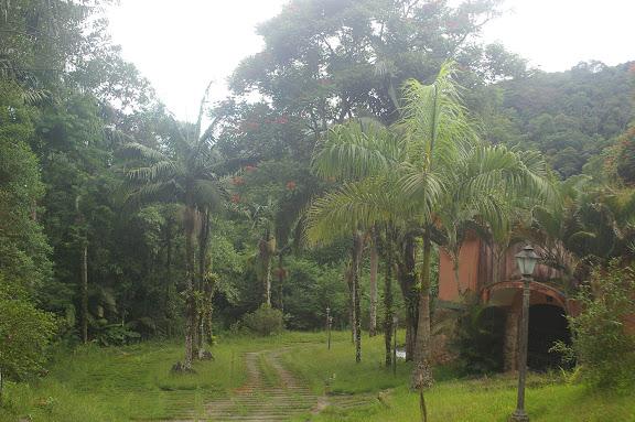 Domaine d'Arariba (Ubatuba, SP) : à droite la maison à la hauteur de la piscine. 24 février 2011. Photo : J.-M. Gayman