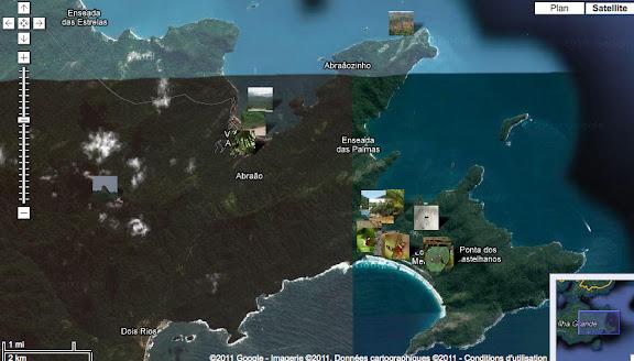 Localisation des photos dans l'est d'Ilha Grande (RJ)