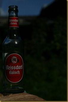 Underexposed beer bottle