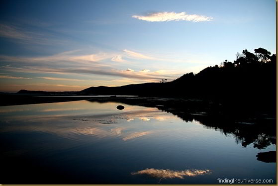 Lagoon Beach Sunset reflection - Tasmania