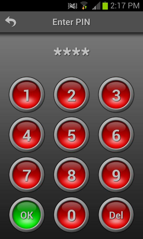 Mobile Alarm System - screenshot