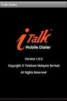 Screenshot of iTalk Mobile Dialer