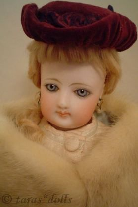 Antique bisque doll poupee French Fashion Francois Gaultier 1860s