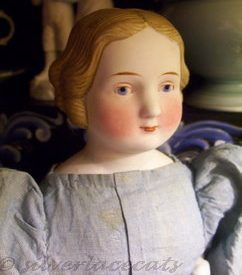 Antique parian doll china 1860s