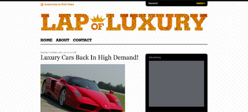 Lap of Luxury wordpress template