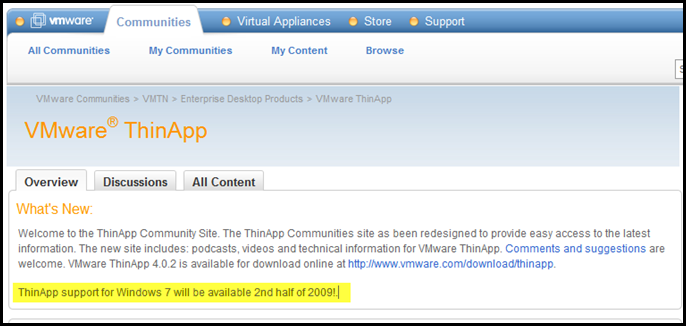 All Sorts of issues with VMware and Window 7 RC | vCloudInfo