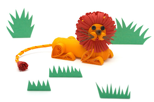 Innas Creations Lion 3d Quilling Project With Step By Step