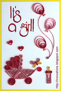 It's a girl! Quilling card