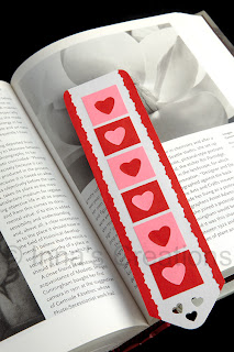 Bookmark with hearts