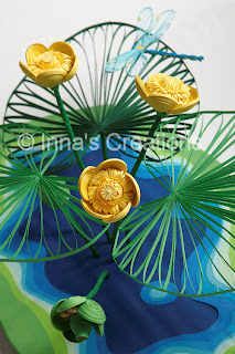 Quilled water lily flowers