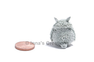 Quilled Totoro, back view
