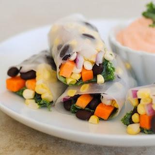 Crunchy Veggie & Black Bean Spring Rolls