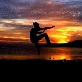 Jumping Hero by Azay Boyan - People Portraits of Men