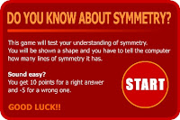 Gemetric shapes symmetry quiz