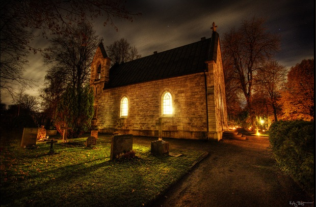 Hdr-night-photography- Church