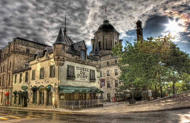 HDR Architecture Photography of Quebec City, Canada