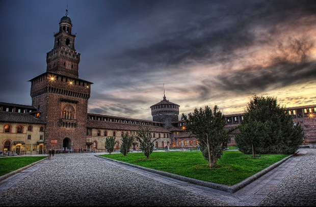 HDR Historic Architecture Photography from Milan, Italy