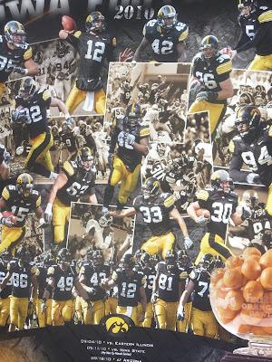 2010 Iowa Football Poster