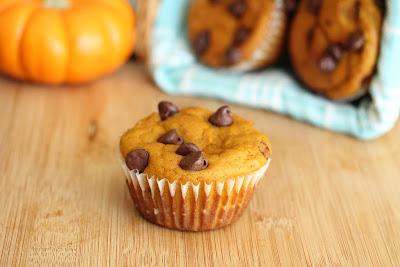 photo of a Chocolate Chip Pumpkin Muffin