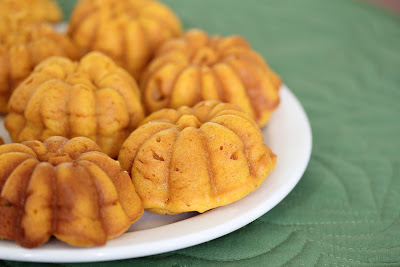 photo of pumpkin mochi cakes on a plate