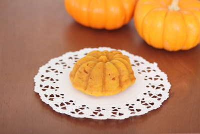 photo of pumpkin mochi cake