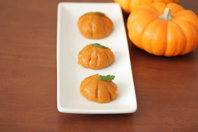 Steamed Pumpkin Mochi