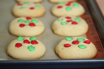 photo of the cookies on a cookie sheet