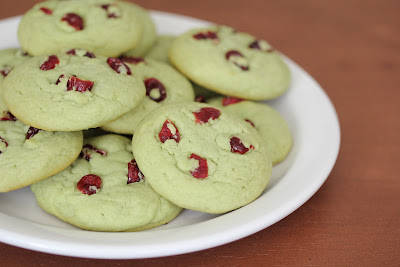 close-up photo of a plate of Green Tea Sugar Cookies