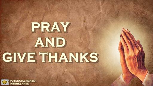 感謝して祈ると与える