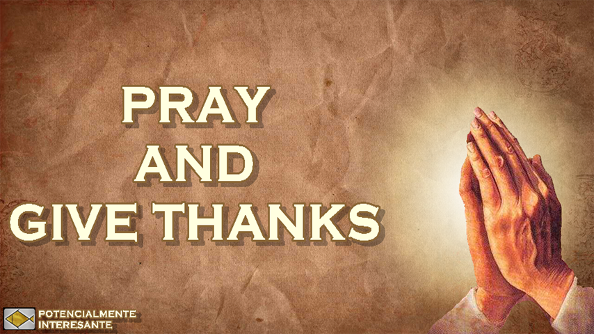 Pray and give thanks - screenshot