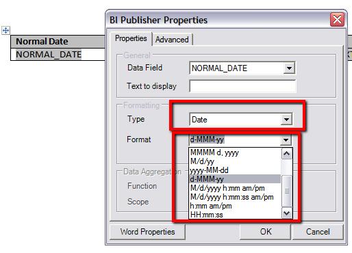 BI Publisher: Formatting Date | Flex Fields