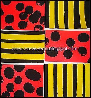 Modern Art: Ladybug Girl & Bumblebee Boy