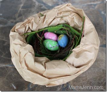 Brown Bag Bird Nest