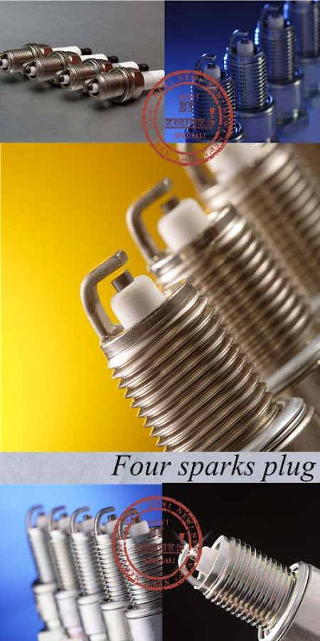 Stock Photo: Four sparks plug