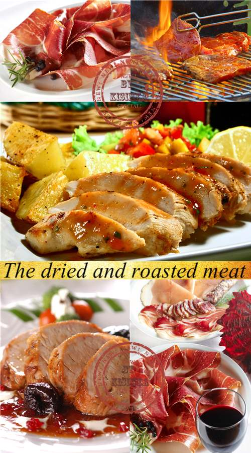 Stock Photo: The dried and roasted meat