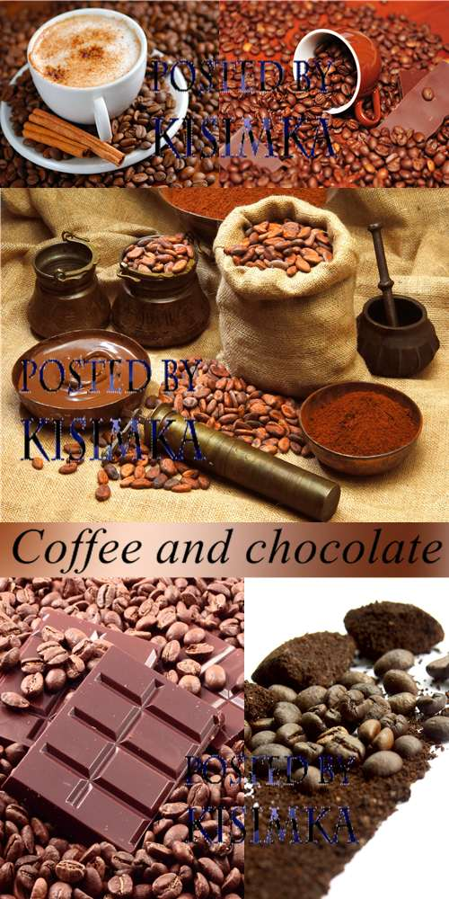 Stock Photo: Coffee and chocolate