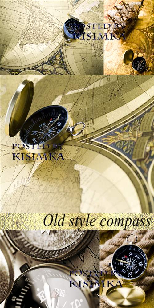 Stock Photo: Old style compass