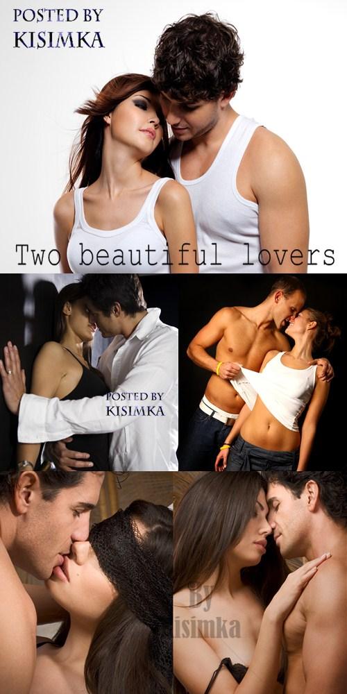 Stock Photo:Two beautiful lovers