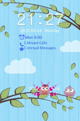 Go Locker Love Birds Theme - screenshot