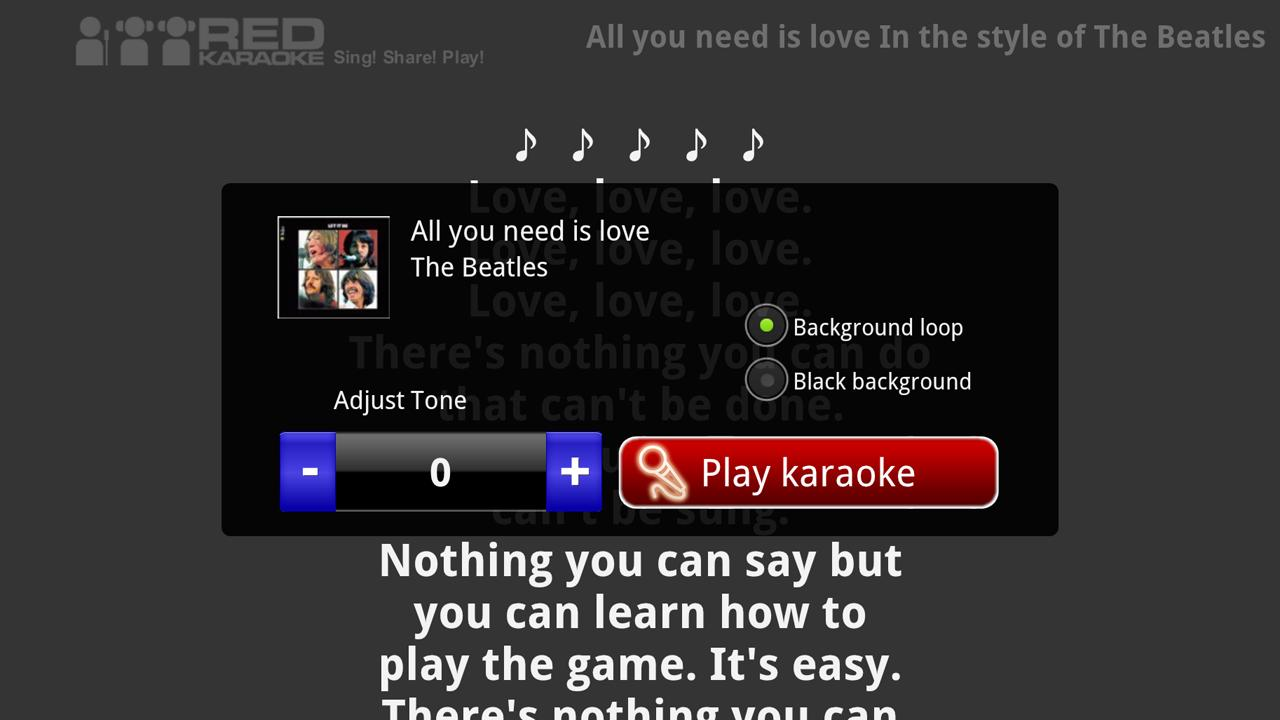 Red Karaoke for Google TV - screenshot