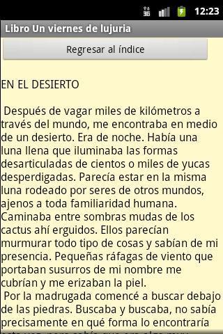 """Libro """"Un viernes de lujuria"""".- screenshot"""