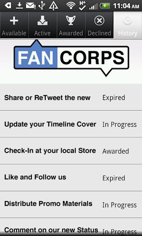 Fancorps- screenshot
