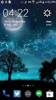 Screenshot of Dream Night Pro Live Wallpaper