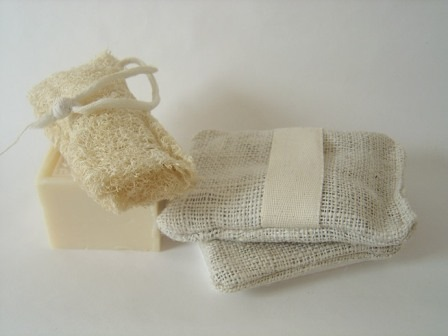 bath sponges simplemente blanco Beach House Living