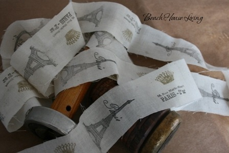 Copy of Stamped fabric ribbon 12-09 042
