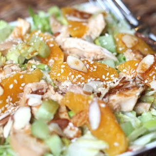 Chinese Chicken Salad with Ginger Sesame Dressing.