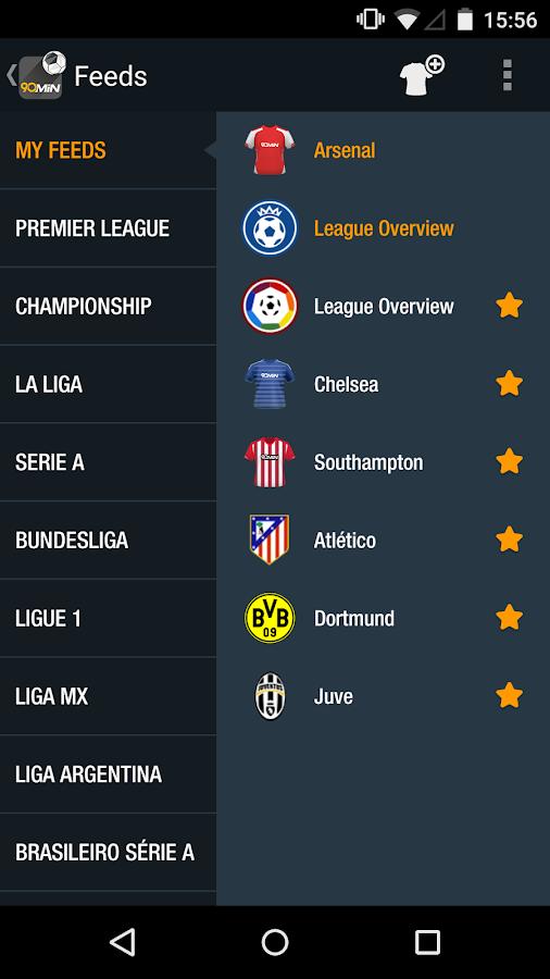90min - The Football News App - screenshot